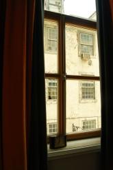 Blick aus dem Hotelzimmer Lissabon