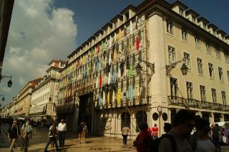 Hauptstraße im Zentrum von Lissabon