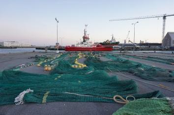 Fischernetze zum trocknen in Skagen